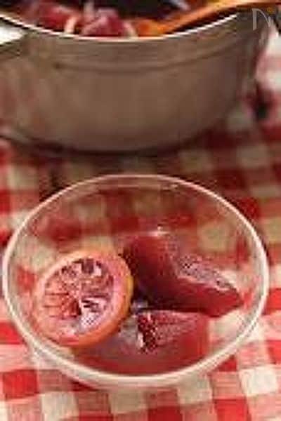 りんごの赤ワインコンポート
