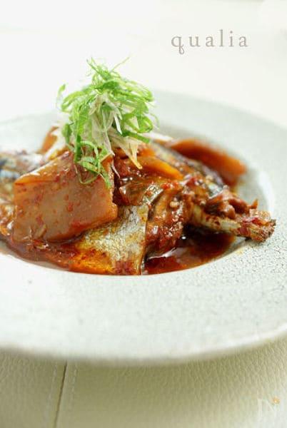 秋刀魚のキムチ煮