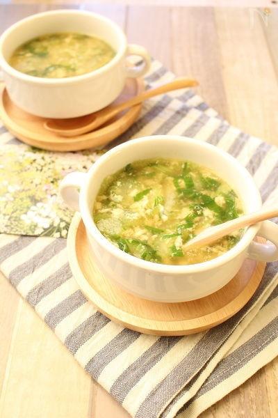 セロリのかきたまスープ