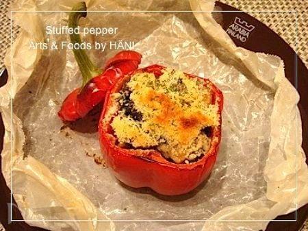 Stuffed pepperパプリカの詰め物レシピ