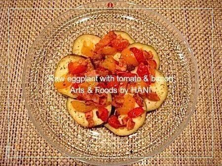 【さしみなす】でイタリアン前菜 ガーリックベーコン