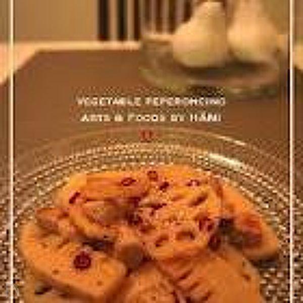 れんこんと筍のペペロンチーノ
