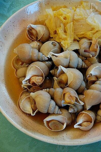 白バイ貝と白菜の煮込み