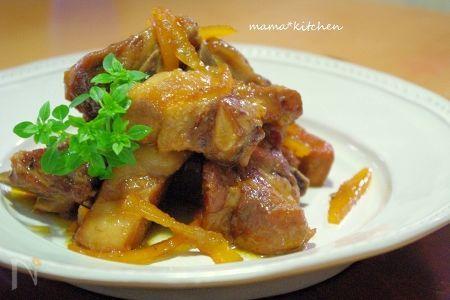 ポークスペアリブの甘夏マーマレード煮