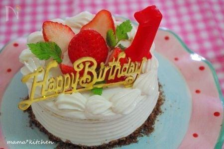 赤ちゃん用の優しいBirthday cake