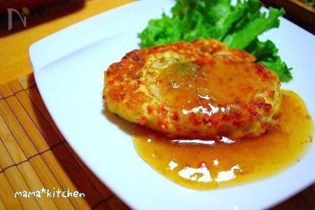 お野菜たっぷり♪ヘルシー鶏バーグ