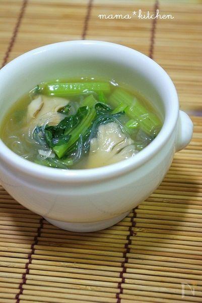 青菜たっぷりとろみ春雨スープ