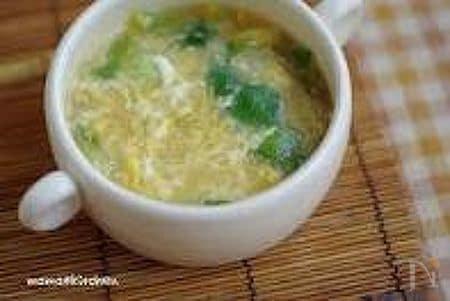 チンゲン菜のとろみ玉子スープ