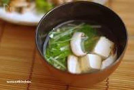 水菜と豆腐のお吸い物