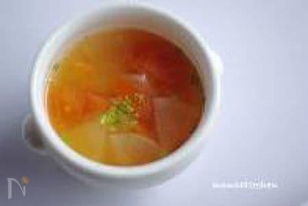 トマトと大根のスープ