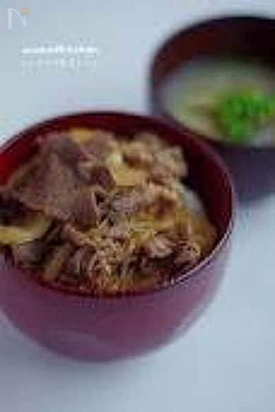 あっという間、牛丼【自家製麺つゆレシピ】