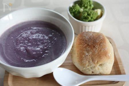 優しい味わい☆紫芋の豆乳ポタージュ