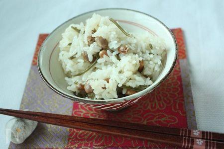 節分豆の炊きこみ豆ご飯