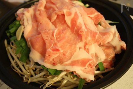 タジン鍋de豚肉とお野菜のスタミナ重ね蒸し