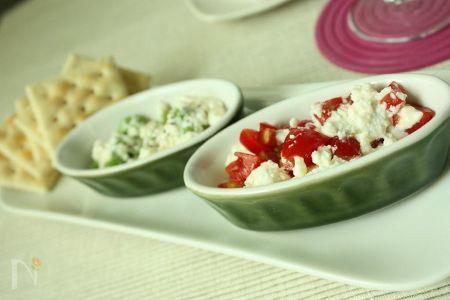 マスカルポーネと夏野菜のオードブル