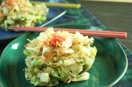 【白菜2日目】白菜たっぷりお好み焼き