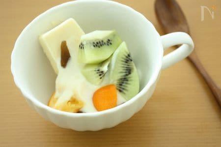 お豆腐クリームのトライフル