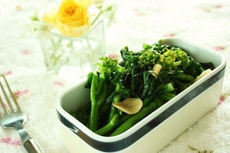 【珍しいお野菜】ふくだちのガーリック炒め