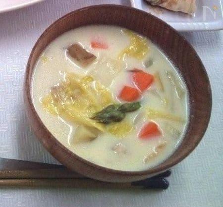 春野菜たっぷり味噌クラムチャウダー