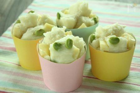 枝豆とチーズの蒸しパン