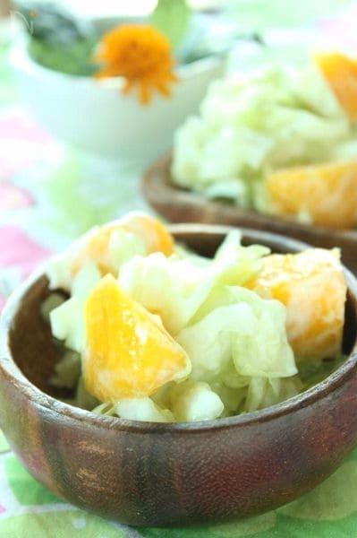 爽やか♪キャベツとマンゴーのヨーグルトサラダ