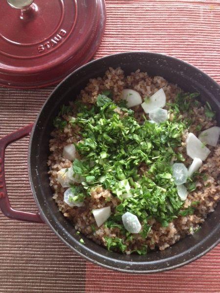 炒り玄米の七草粥
