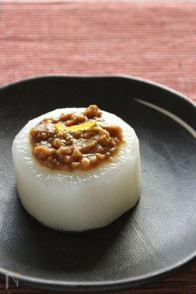 ふろふき大根・柚子味噌のせ