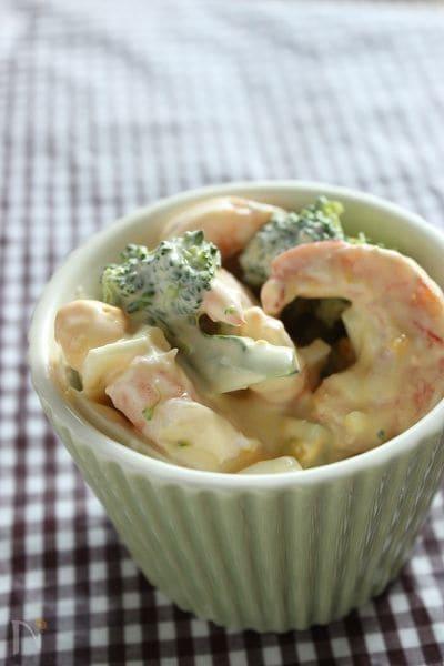 えびとブロッコリーの味噌マヨ―グルトサラダ