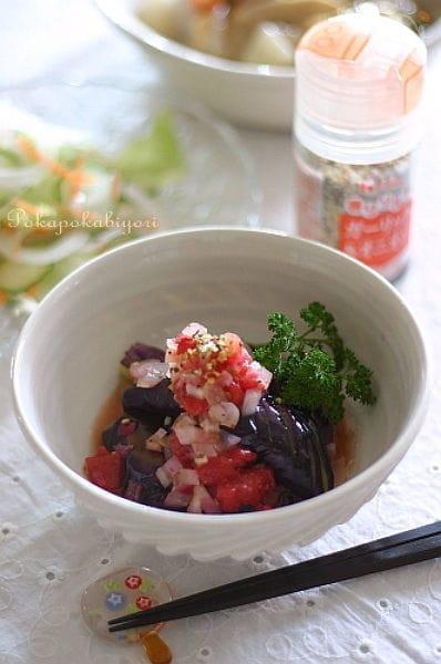 揚げ茄子 ガーリック&オニオン風味