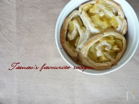 簡単パイシートで!巻き巻きリンゴパイ