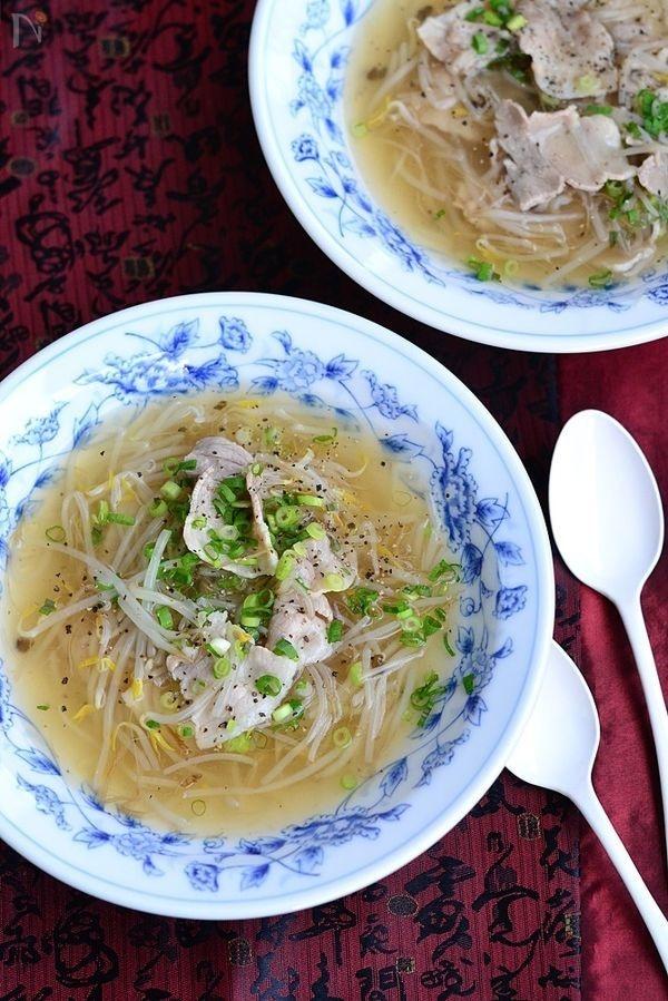 豚バラもやしのとろみ和風スープ