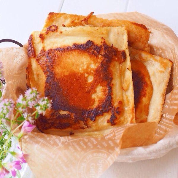 パンでつくるフレンチトースト風ナン