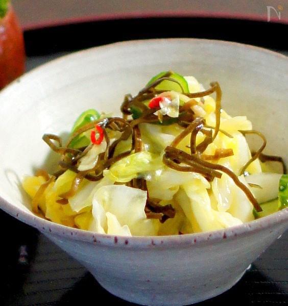 寿司酢で簡単キャベツの和風ピクルス