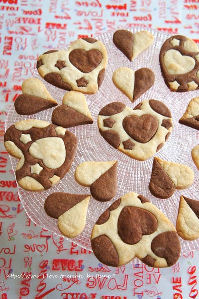 ハートの型抜きクッキー