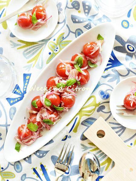 ミニトマトと玉ねぎのマリネ