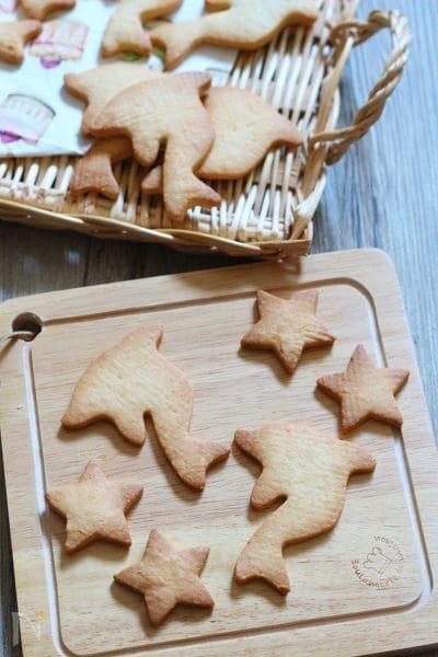 イルカの形のクッキー