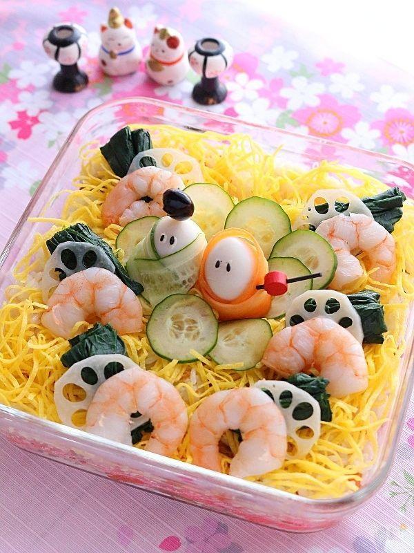 ひなまつりのスコップちらし寿司