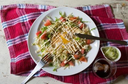 油揚げのガレット風サラダ仕立て【低糖質】