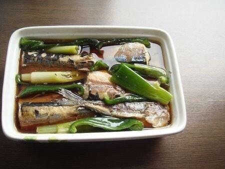 焼き秋刀魚の煮浸し