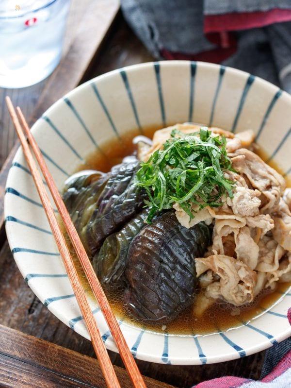 豚バラなすの甘辛うま煮【#煮込みは6分 #なすの変色防止】
