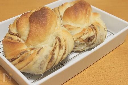 豆腐のねじりパン マロン味