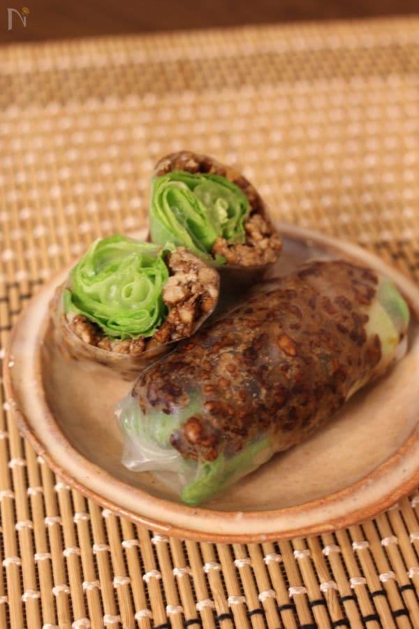肉味噌のレタス包み風 生春巻き