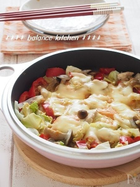 フランパンで簡単!鮭のちゃんちゃんチーズ焼き