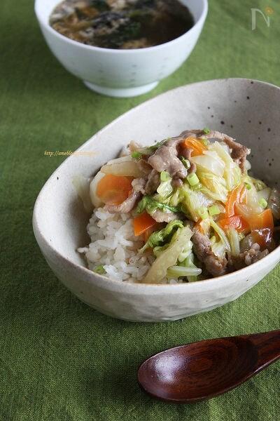 白菜と豚のとろとろ中華丼