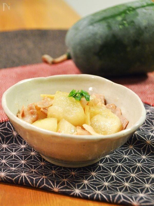 とろける!冬瓜と豚バラの煮物。