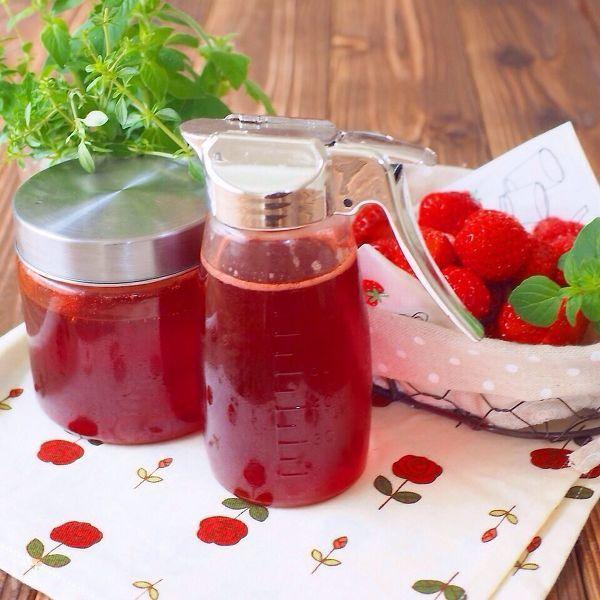 苺シロップと苺ジャムが同時に作れちゃう!