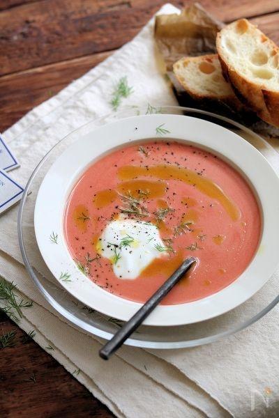 ヨーグルトトマトスープ