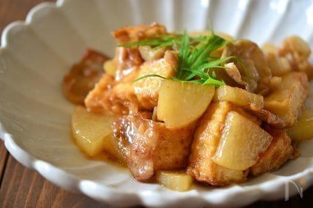 豚バラ大根と厚揚げの炒め煮