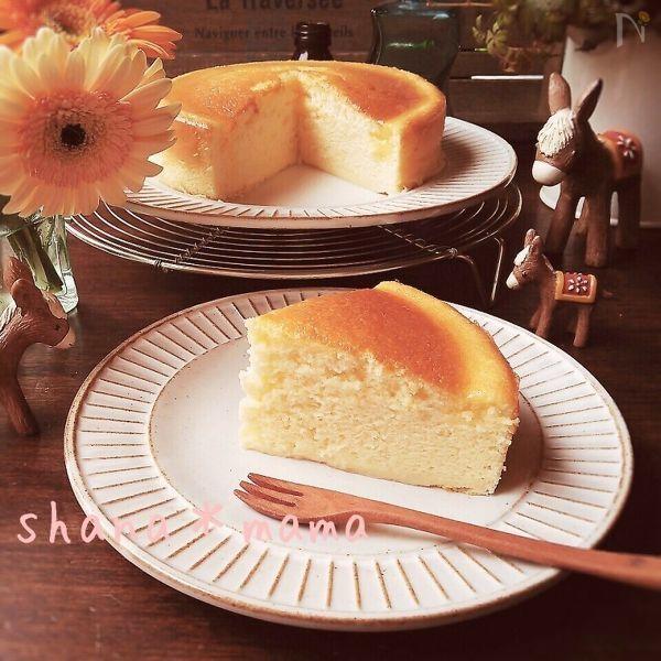 スライスチーズで作るチーズスフレ