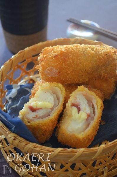 2.はんぺんの梅チーズカツ